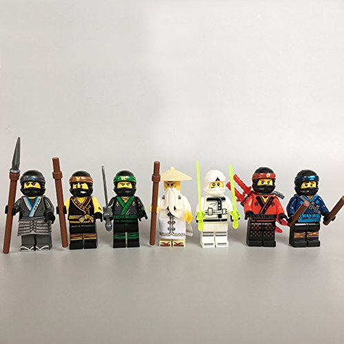 7pcs/lot NEW Ninjagoes Movie Wu Kai Jay Cole Zane Nya Lloyd Destiny's Bounty Compatible legoes 70618 block Kids Mini toy Fig