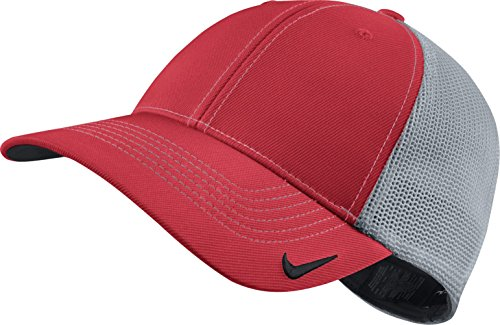 Nike Golf New 2014 Mesh Back Blank Cap - Large/X-Large - Action Red/Light Magnet Grey - Mesh Back Cap Blank