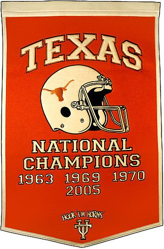Texas Longhorns Dynasty Banner - NCAA Licensed - Texas Longhorns Collectibles