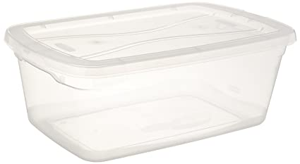 Rubbermaid Clever Store Tote Storage Container FG3Q3400CLR, 71 Quart, Clear