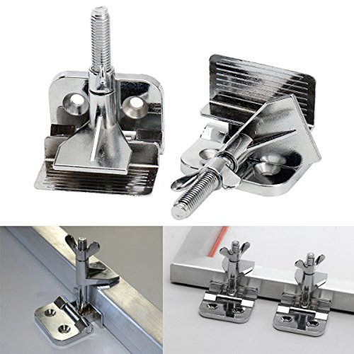 2 pc of Screen Frame Butterfly Hinge Clamp for Silk Screen Printing Sturdy Quality 009022, screws NOT included by Screen Printing Consumables