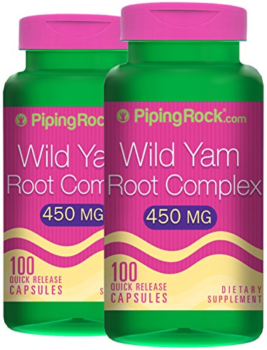 Piping Rock Wild Yam Root Complex 450 mg 2 Bottles x 100 Quick Release Capsules Dietary Supplement