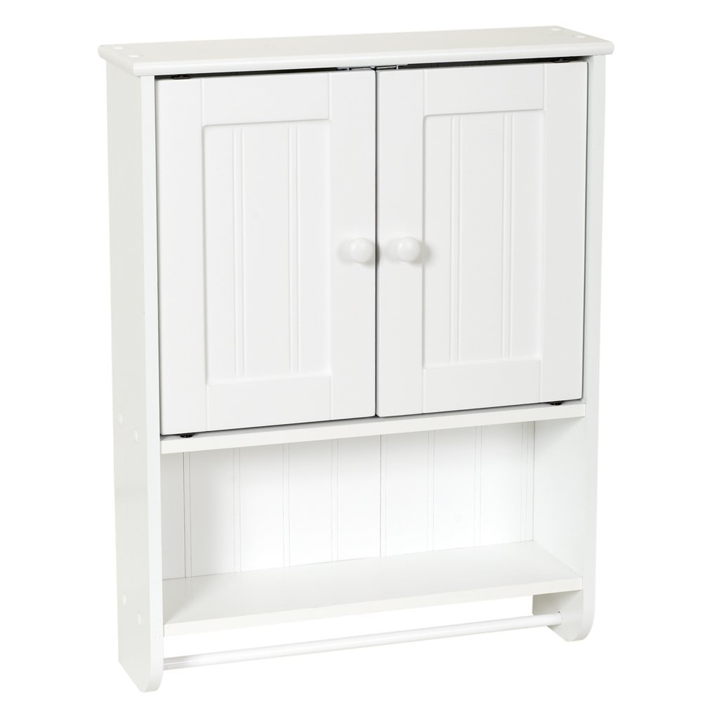 Amazon.com: Zenna Home 9114W, Cottage Collection Wall Cabinet, White ...