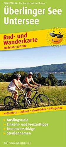 Überlinger See - Untersee: Rad- und Wanderkarte mit Ausflugszielen, Einkehr- & Freizeittipps, Straßennamen und Nebenkarte Friedrichshafen, wetterfest, ... 1:50000 (Rad- und Wanderkarte / RuWK)