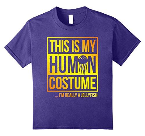 Kids jellyfish costume shirt this is my human costume 12 (Jellyfish Costume For Kids)