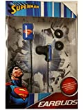 Superman Earbuds Compatible with iPhones/iPods/iPads, Smartphones and Tablets!