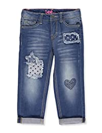 "Lee Little Girls' ""Frayed Polka"" Boyfriend Jeans"