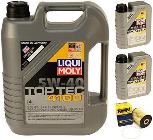 オイル交換キット 液体 TopTech 4100 5W-40+Hengst E1001HD28 フィルター