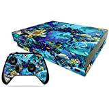 MightySkins Skin Compatible with Microsoft Xbox One X - Ocean Friends   Protective, Durable, and Unique Vinyl Decal wrap Cover   Easy to Apply, Remove, and Change Styles   Made in The USA