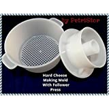 Hard Cheese Butter Punched Making Mold With Follower Press 1,2 liters by PetriStor