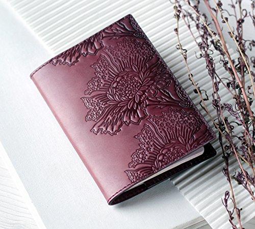 d69d05eda1ea Handmade Leather Passport Cover For Women, Maroon Passport Holder ...