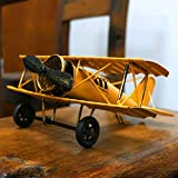 IUU Large Retro Iron Aircraft Handicraft Vintage