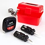toolbox mini - Bits and Pieces - Mini Travel Tool Kit - Portable Multifunctional Compact Tool Kit for a Handyman