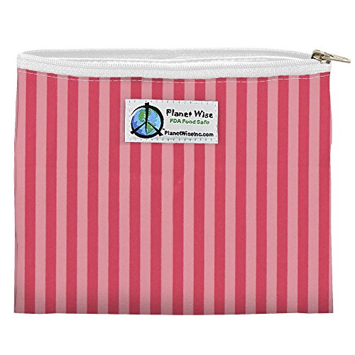 - Planet Wise Reusable Zipper Sandwich and Snack Bags, Sandwich, Pink Stripe