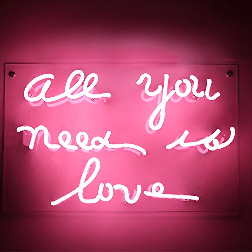 "Neon Sign 2020A Neon Sign Light Beer Bar Girls Wall Window Lights Bedroom Home Signs""ALL YOU NEED IS LOVE""13×8 Inch ,100V-240V,Pink by Neon Sign 2020A"
