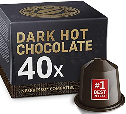 Cápsulas de Chocolate Compatibles con Nespresso. Real Coffee. 40 ...