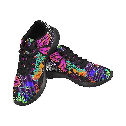 D-Story Jogging Running Sneaker Butterflies Seamless Multicolored Women's Casual Comfort Sports Walking Running Shoes