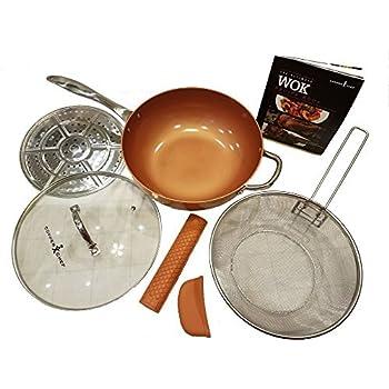 Amazon Com Copper Chef Pro 12 Xl Wok Set 7 Pc Kitchen