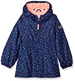OshKosh B'Gosh Osh Kosh Little Girls' Fleece Lined Midweight Windbreaker Jacket, Navy Floral, 5/6