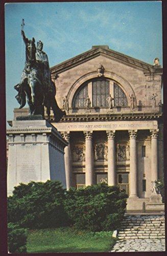 St. Louis Statue Art Museum King XV City France Missouri MO Postcard
