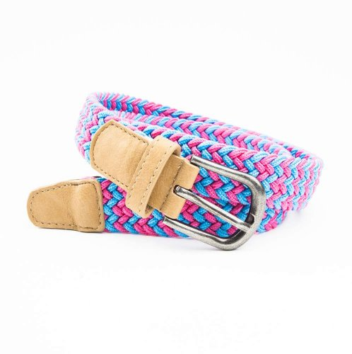Kids Accessories 8 Belts (Peppercorn Kids Stretchy Cord Belt, Pink/Blue, 8-14 Years)