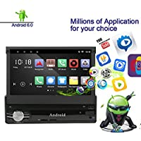 Ezonetronics Android 6.0 Quad Core Car Radio Stereo 7 inch Capacitive Touch Screen High Definition 1024x600 GPS Navigation Bluetooth USB SD Player 2G DDR3 + 16G NAND Memory Flash CT0023
