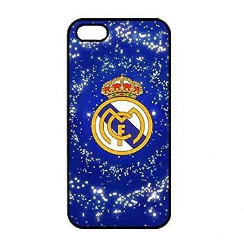 Raymond Thylane R. Madrid Logo Phone Carcasa, Real Madrid CF Phone Carcasa Cover for iPhone 5/iPhone 5S, iPhone 5/iPhone 5S Carcasa Black Futbol Club ...
