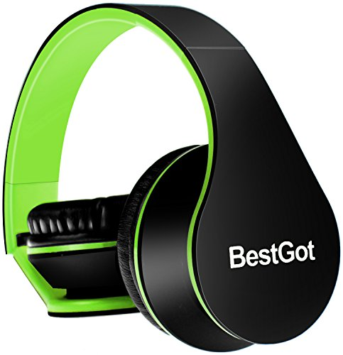 BestGot Headphones Over Ear with Microphone for Kids Adult in-line Volume Transp