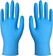 Disposable Indigo Nitrile Gloves, Medical Exam Grade, Latex Free, Disposable, Non-Sterile,Powder Free Gloves for Cleaning, S