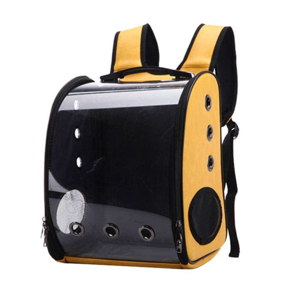 Pet bag Transparent Cat Bag Out Portable Panoramic (Color : Yellow) by Pet bag
