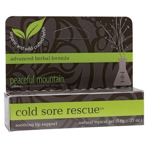 Peaceful Mountain, Gel Cold Sore Rescue, 0.25 Ounce