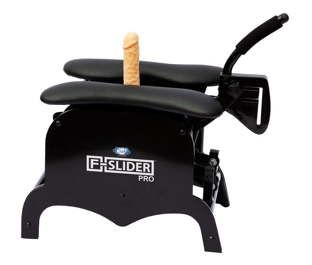 Cloud 9 Novelties F-Slider Pro Heavy Duty Self Pleasuring Sliding Chair with Accessories, Black