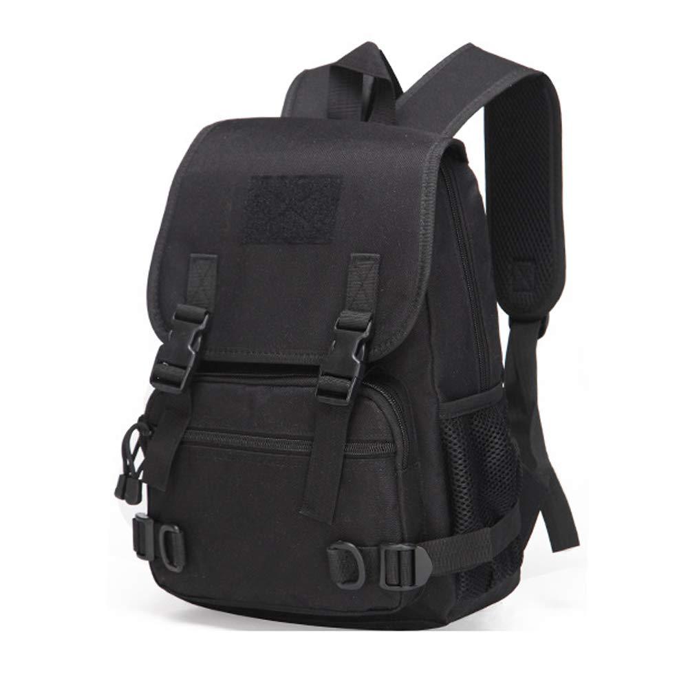 LiRongPing Camouflage Outdoor Sports Camping Backpack CS Equipment Borsa per Studenti Uomini e Donne Camuffamento (colore   Nero)