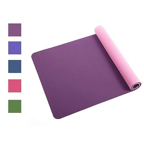 Amazon.com : GOPG Premium Yoga Mat - TPE Non-Slip Odorless ...