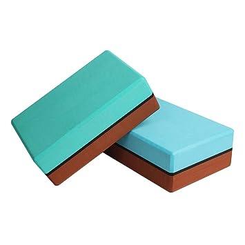 Amazon.com: Healifty Yoga Blocks Yoga Pilates Bricks Double ...