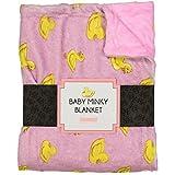 SooRoo Kids Soft Cozy Minky Newborn Baby Blanket Duck Awake/Duck Asleep [chooose color] (Pink)