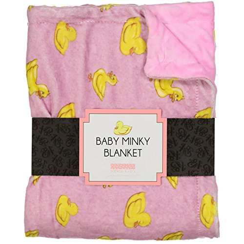 SooRoo Kids Soft Cozy Minky Newborn Baby Blanket Duck Awake/