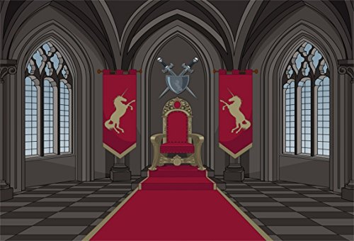 King Wallpaper - CSFOTO 5x3ft Background for Medieval Castle Throne Room Photography Backdrop Solemn King Kingdom Red Carpet Fairy Tale Symbol of Rights Photo Studio Props Children Kid Portrait Wallpaper