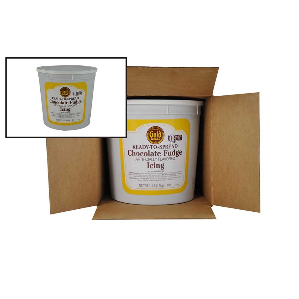 Gold Medal Chocolate Fudge Ready To Serve Icing 2 Case 11 Pound