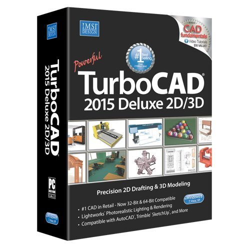 TurboCAD Deluxe 2015 - affordable 2D Drafting & 3D Modeling CAD Software ()