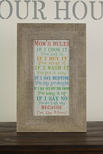 Summer Snow Mom's Rules - holiday wall decor - Mothers day wall decor