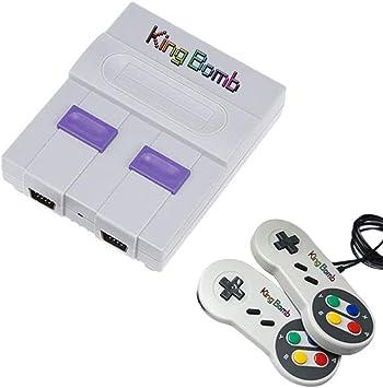 King Bomb Built-In 821 Game Super Mini Home TV Consola de Juegos HD Mango Doble