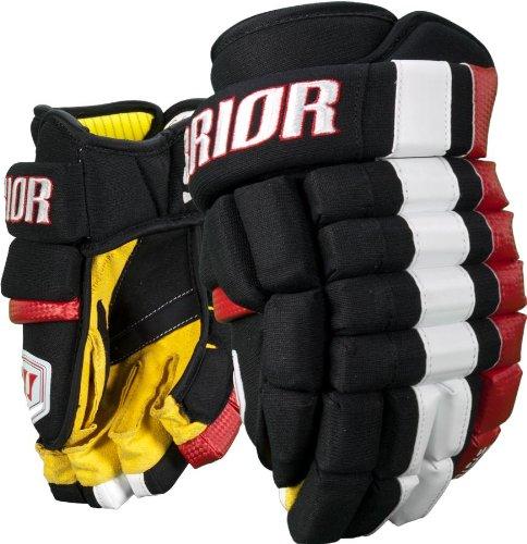 Warrior Senior Bonafide Hockey Glove Black/Gold/White