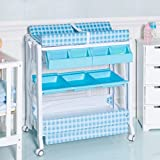 Infant Baby Bath Changing Table Diaper Station w/ Tube Blue