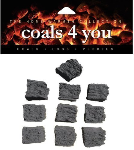 10 Medium Gas Fire Replacement Coals In A Box Grate Glow With Branded Coals 4 You Packing