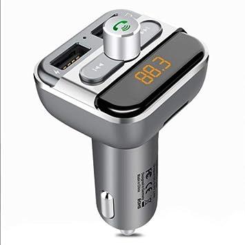 Bluetooth Transmisor FM,para Coche,Adaptador de Radio ...