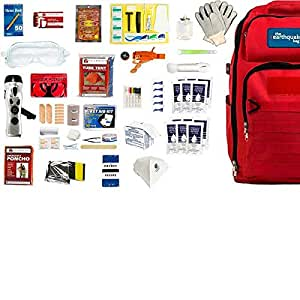 Complete Earthquake Bag - Most popular emergency kit for earthquakes, hurricanes, floods + other disasters (2 person, 3 days)