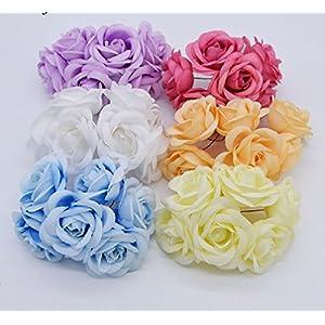 5Cm Flower Head Silk Rose Artificial Rose Flowers Bouquet Handmade Wedding Home Decoration Festive & Party Scrapbooking Supplies 35