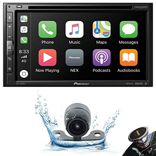 Pioneer AVH-2500NEX Double DIN in-Dash DVD/CD Car Stereo Receiver with Built-in Android Auto and Apple CarPlay, 6.8″ Touchscreen, and WebLink + Backup Camera + Gravity Phone Holder