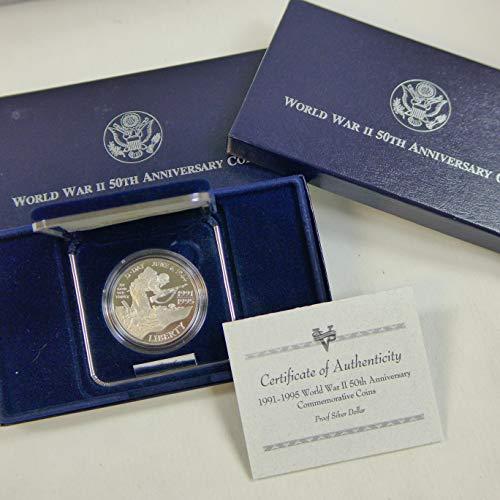 1991-1995 World War II Commemorative Silver Dollar W Proof